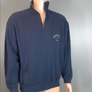 Tommy Bahama Mens Navy Quarter Zip SZ.L